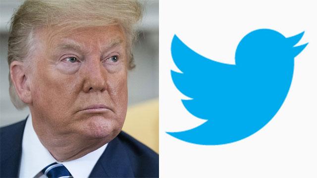 לוגו טוויטר דונלד טראמפ (צילום: MCT)