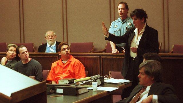 רנדי הלפרין בזמן המשפט (צילום: AP)