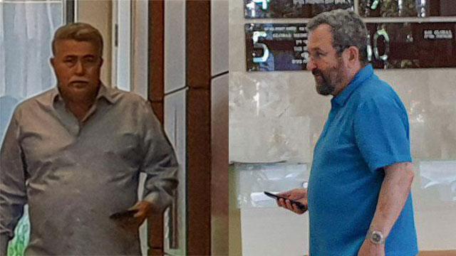 עמיר פרץ אהוד ברק פגישה רמת גן (צילום: יריב כץ)
