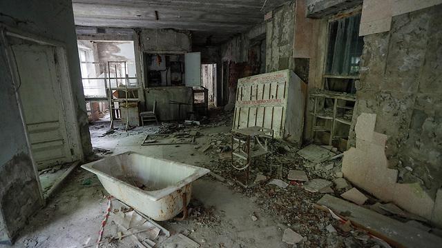 פריפיאט אוקראינה בית חולים נטוש אליו פונו נפגעים אסון צ'רנוביל (צילום: EPA)