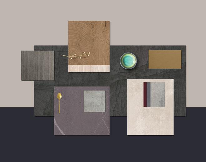 קומפוזיציית חומרים וצבעים. ''בלורן''