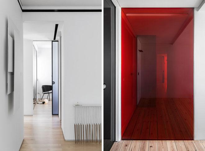 דלתות לכל גובה הקיר. עיצוב: יעל פרי. דלתות: סטאטו