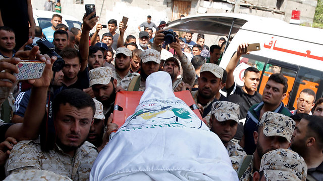Funeral of Hamas operative killed by IDF on Thursday (Photo: Reuters)