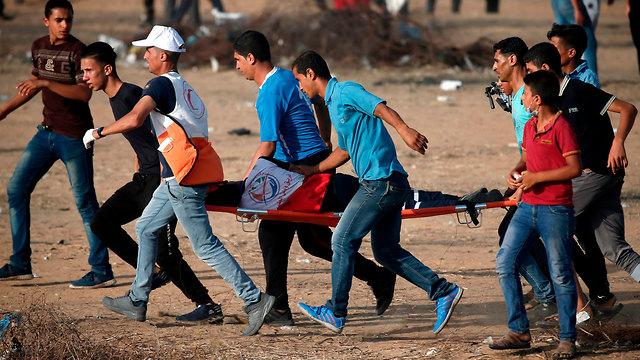 Gaza border fence riots (file photo) (Photo: AFP)