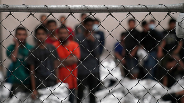 Immigrants detained at an ICE facility on the Mexican border  (Photos: Reuters)