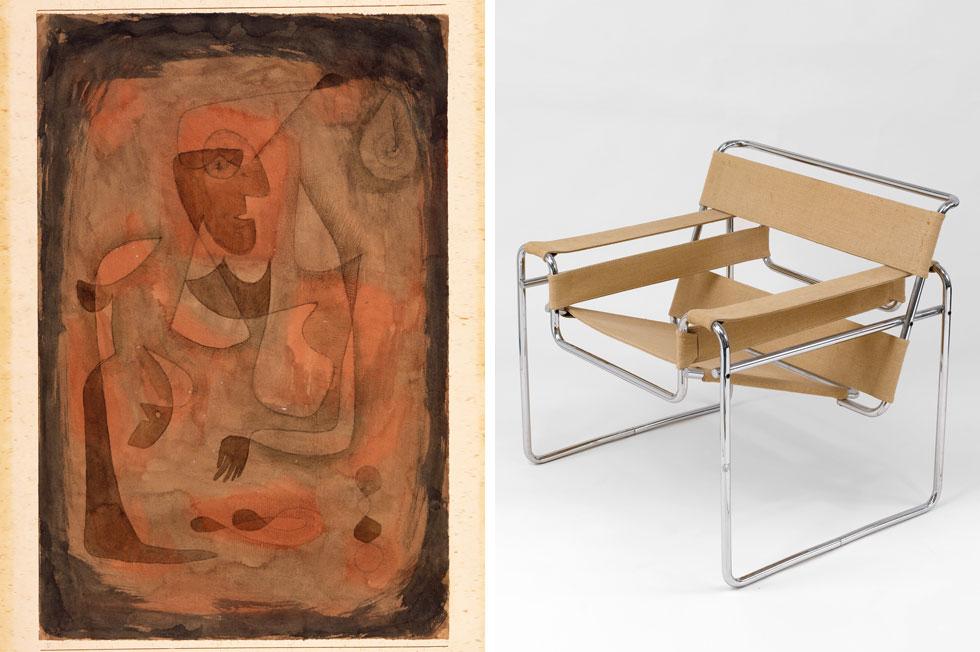 """התערוכה דווקא לא נשענת על העבודות המפורסמות, אם כי כמה מהן כן מופיעות בהבלטה, כמו כיסא ואסילי של ברויאר ו""""Sleight of Hand"""" של פול קלה (צילום: The Israel Museum, Jerusalem by Avshalom Avital ©)"""