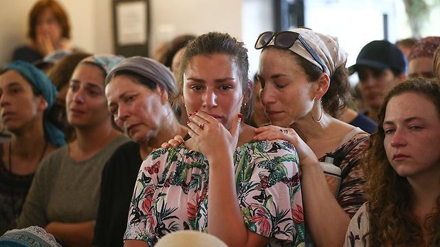 כפר עציון הלוויה של הלל ללום ו עמית בר לב (צילום: אוהד צויגנברג)