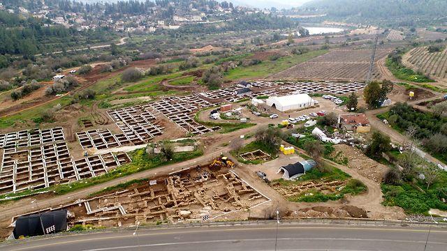 The Motza Neolithic village (Photo: Eyal Marco, Antiquities Authority)