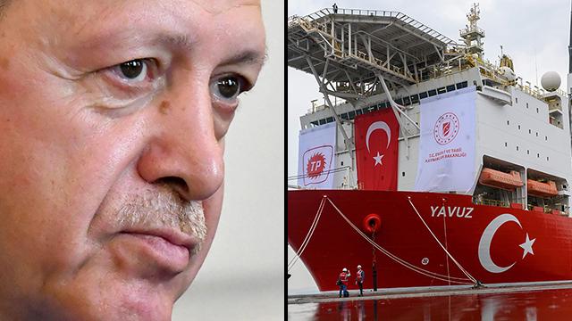 נשיא טורקיה רג'פ טאיפ ארדואן קידוח קפריסין (צילום: AFP)