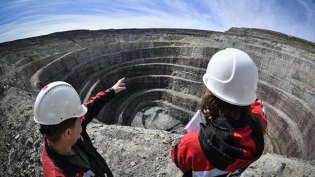 רוסיה כריית יהלומים מירני (צילום: AFP)