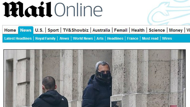 A screenshot of a Daily Mail article showing Ehud Barak entering the home of Jeffrey Epstein in January 2016