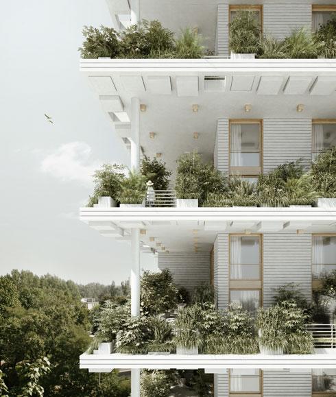 ירוק בעיניים. הצעה לפרויקט Magic Breeze sky Villas (הדמיה: Studio Precht)