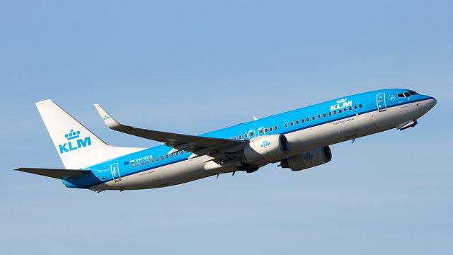 מטוס של חברת KLM (צילום: shutterstock)