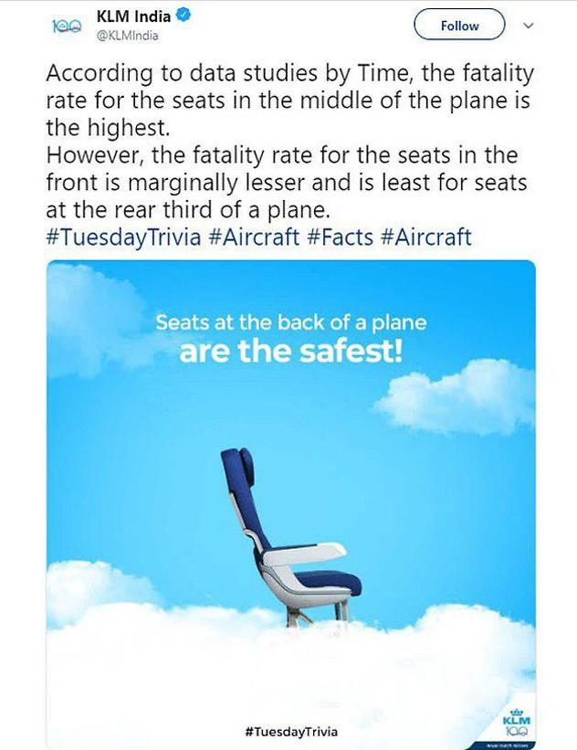 הציוץ המוזר של KLM