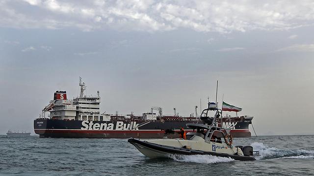 איראן צוות ה מכלית ה בריטית בריטניה Stena Impero  (צילום: AFP)
