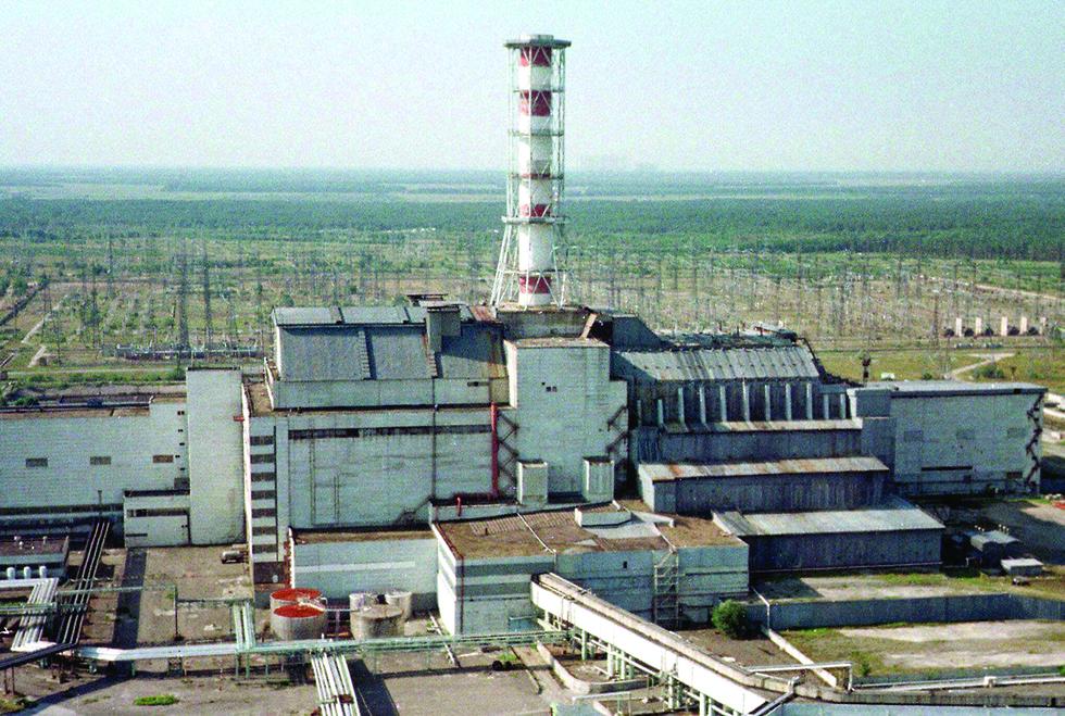 הכור בצ'רנוביל (צילום: AP)