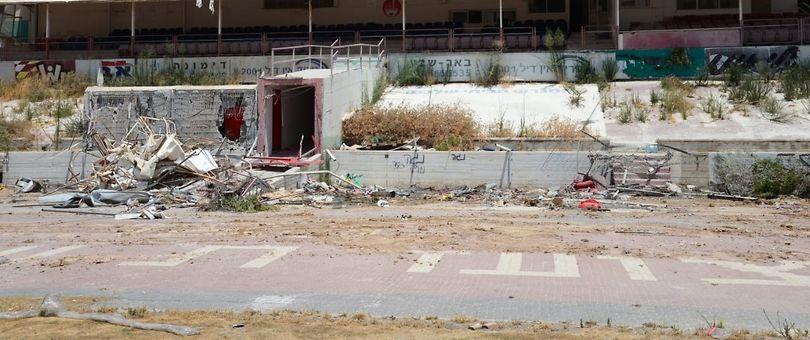 הריסת אצטדיון וסרמיל (צילום: הרצל יוסף)
