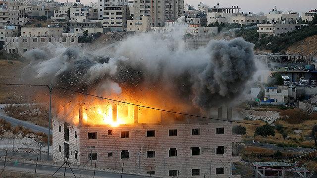 IDF demolishing homes in East Jerusalem last month (Photo: Reuters)