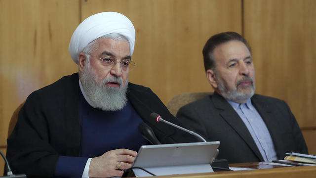 President Hassan Rouhani speaks in a cabinet meeting in Tehran on July 24, 2019 (Photo: AP)