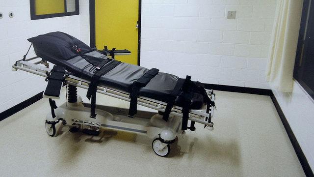 עונש מוות הוצאה להורג מיטה ל זריקת רעל ב בית כלא ב ג'ורג'יה ארה