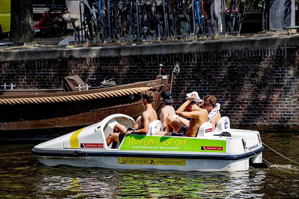 אמסטרדם גל חום אירופה (צילום: EPA)