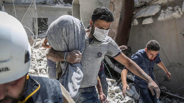 הרוגים הפצצות של רוסיה ו צבא סוריה מחוז אידליב של ה מורדים (צילום: MCT)