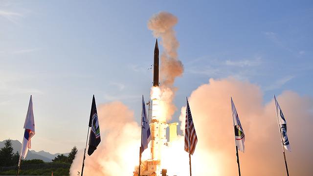 ניסוי טיל חץ  (צילום: אגף דוברות והסברה במשרד הביטחון)