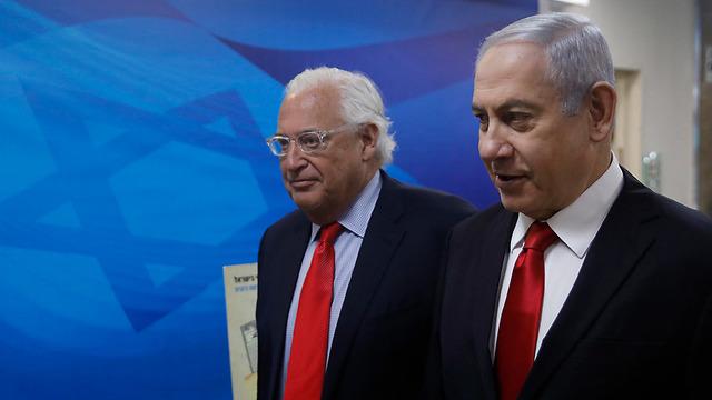 Friedman and Netanyahu (Photo: EPA)