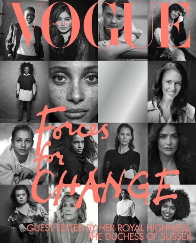 ריספקט. שער ספטמבר  (צילום: British Vogue)