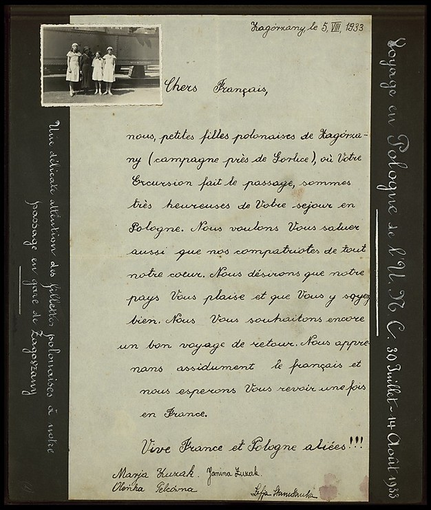 A Letter from a Polish girl: 'Long live the aliance between France and Poland!' (Photo: National Library)