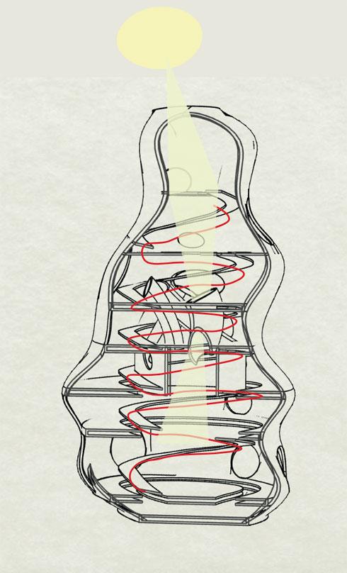 גן פרפרים. מאיה (אמאל) מולא (הדמיה: מאיה מולה, המחלקה לארכיטקטורה, בצלאל אקדמיה לאמנות ועיצוב, ירושלים)