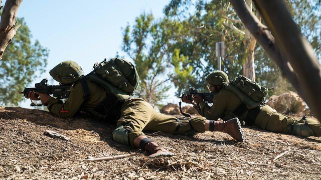 Troops from the IDF's Gaza Division training in July (Photo: IDF Spokesperson's Unit) (Photo: IDF Spokesperson's Unit)