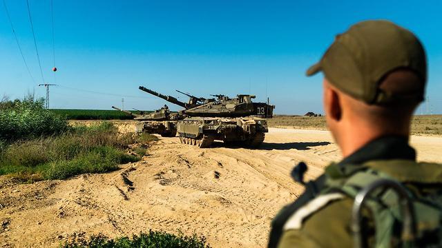 Gaza battalion drill on border (photo: IDF Spokesperson's Unit) (Photo: IDF spokesman)