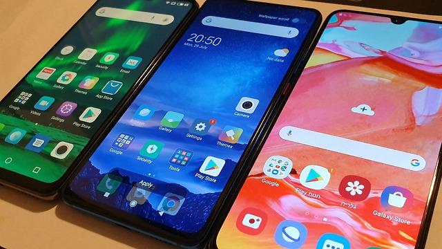השוואת טלפונים סמסונג שיאומי מייזו (צילום: ynet)