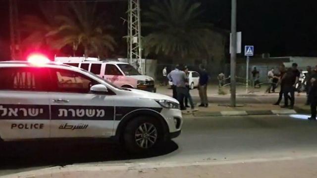 ירי לעבר רכב בכניסה לישוב לקיה (צילום: רועי עידן )