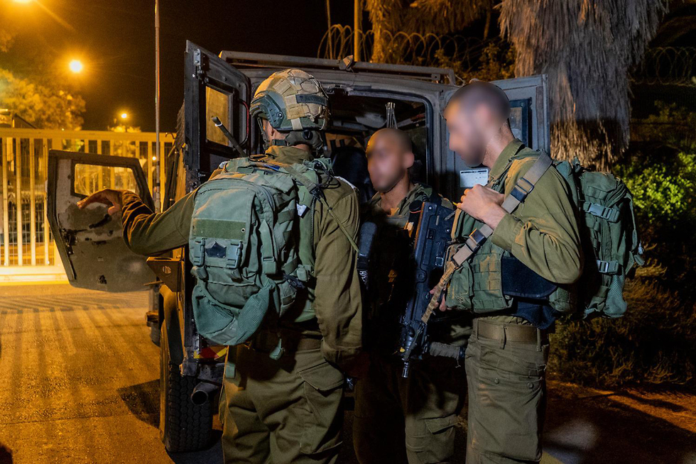 IDF force securing a nearby town during the event (Photo: IDF's Spokesperson Unit)