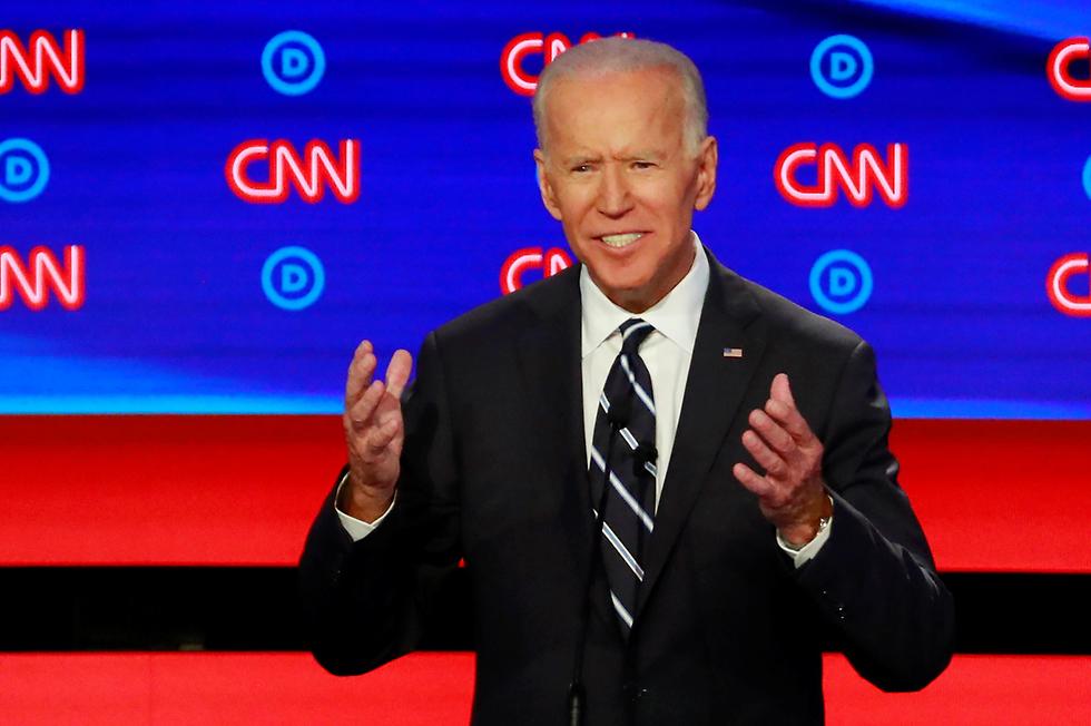 ג'ו ביידן עימות פריימריז של המפלגה הדמוקרטית ארה