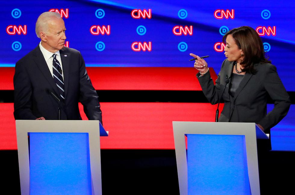 ג'ו ביידן ו קמאלה האריס עימות פריימריז של המפלגה הדמוקרטית ארה