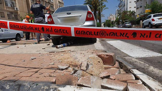 זירת התאונה (צילום: בראל אפרים)