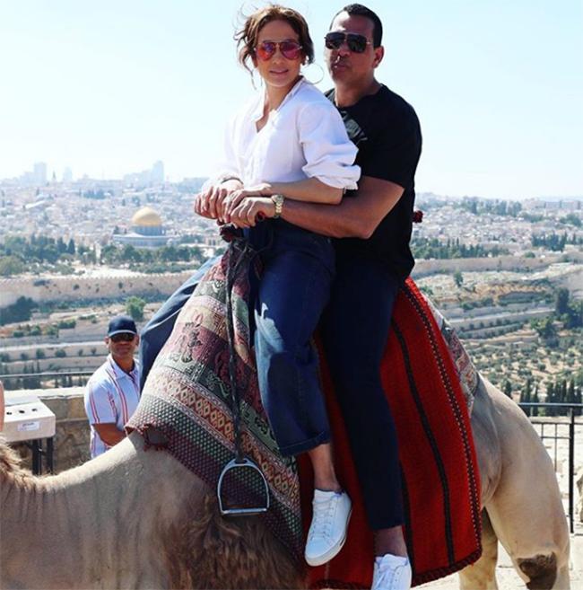 Jennifer Lopez and A-rod in Jerusalem (Photo: Instagram)