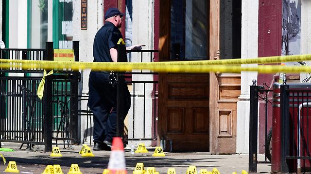 The Dayton, Ohio shooting scene (Photo: EPA)