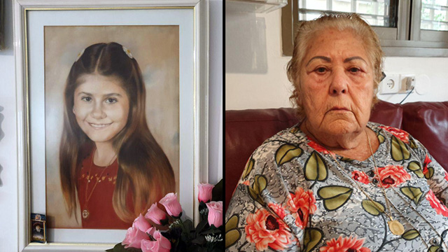 Mazal Elimelech, mother of Nava, with a drawing of her daughter by her side (Photo: Nitzan Dror)