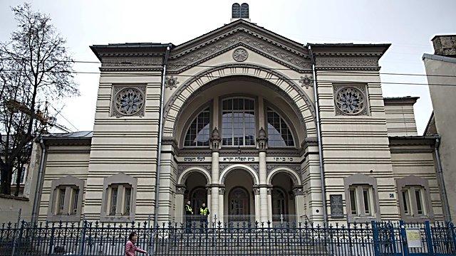 בית הכנסת שנסגר בווילנה (צילום: AP)