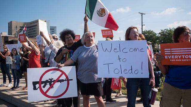 מחאה  נגד דונלד טראמפ  (צילום: AFP)