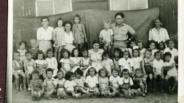Children at school in British internment camp in Cyprus