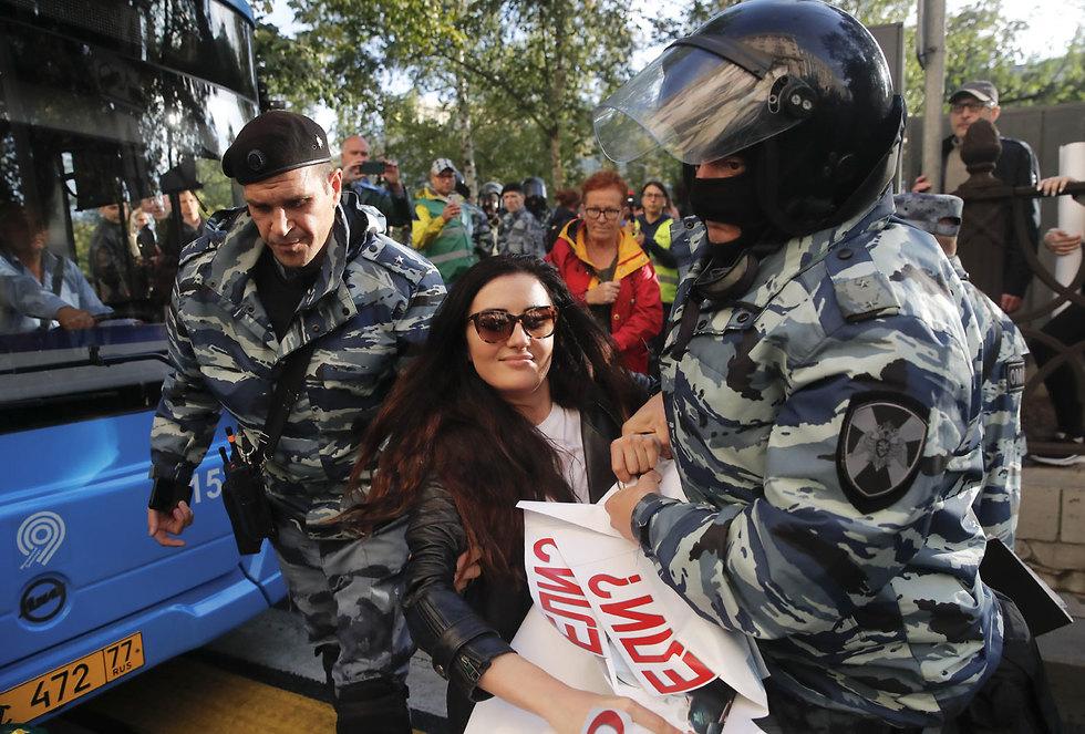 מחאה מחאת ה אופוזיציה ב רוסיה מפגינים הפגנה מוסקבה (צילום: רויטרס)