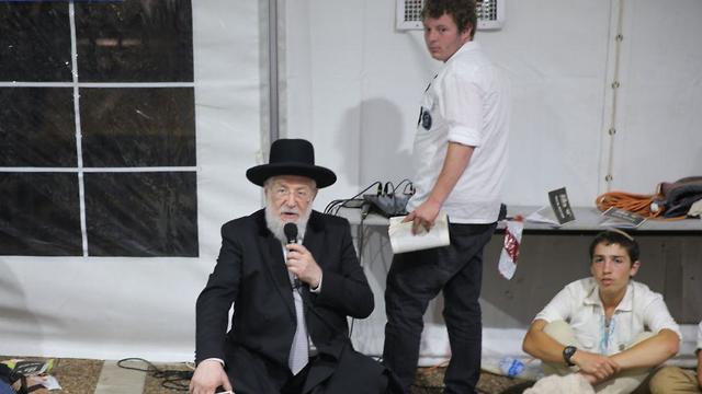 הרב ישראל מאיר לאו ט' באב ב כיכר רבין תל אביב תשע באב (צילום: מוטי קמחי)