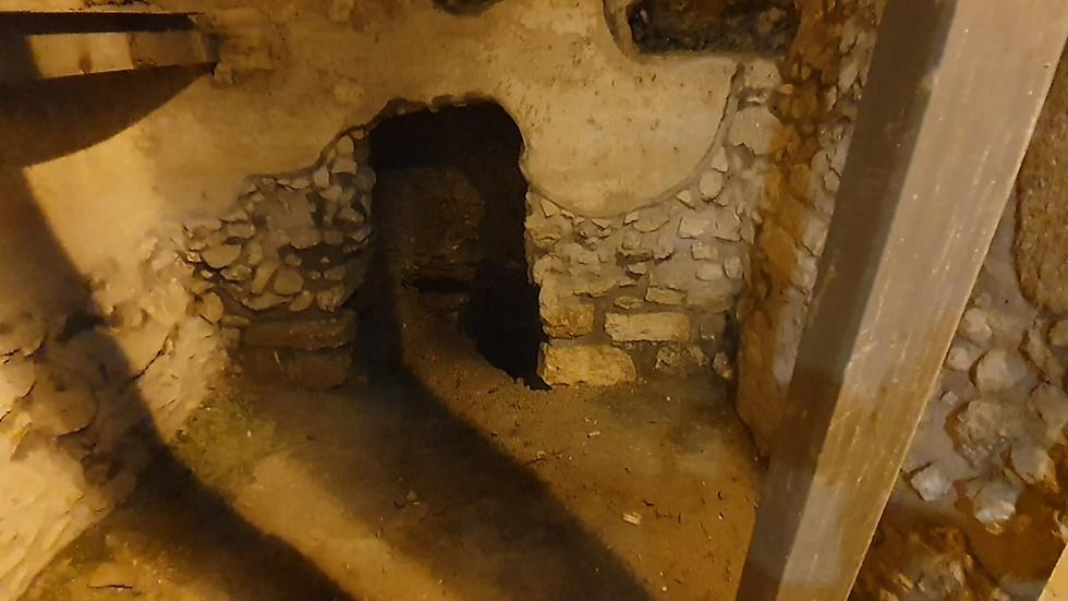 ממצאים ארכיאולוגיים בעקבות  החורבן (צילום: אלי מנדלבאום)