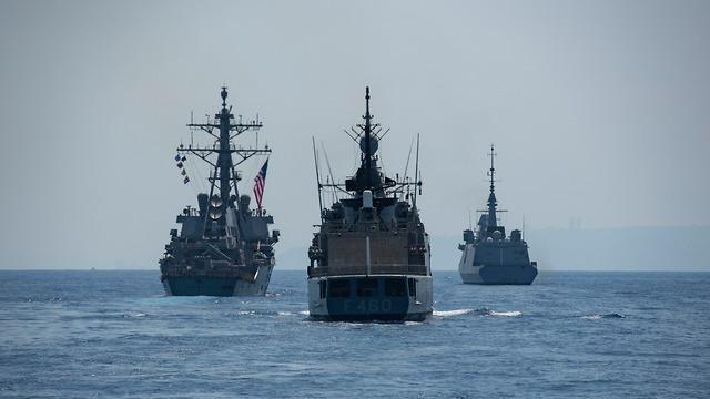 Vessels participating in the drill (Photo: IDF Spokesperson's Unit)