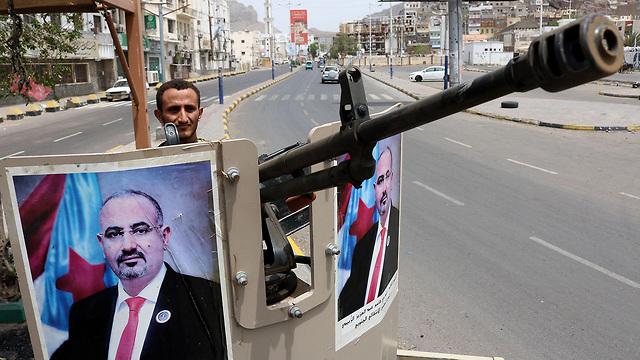 תימן כוחות הבדלנים בדרום המדינה השתלטו על העיר עדן  (צילום: AFP)